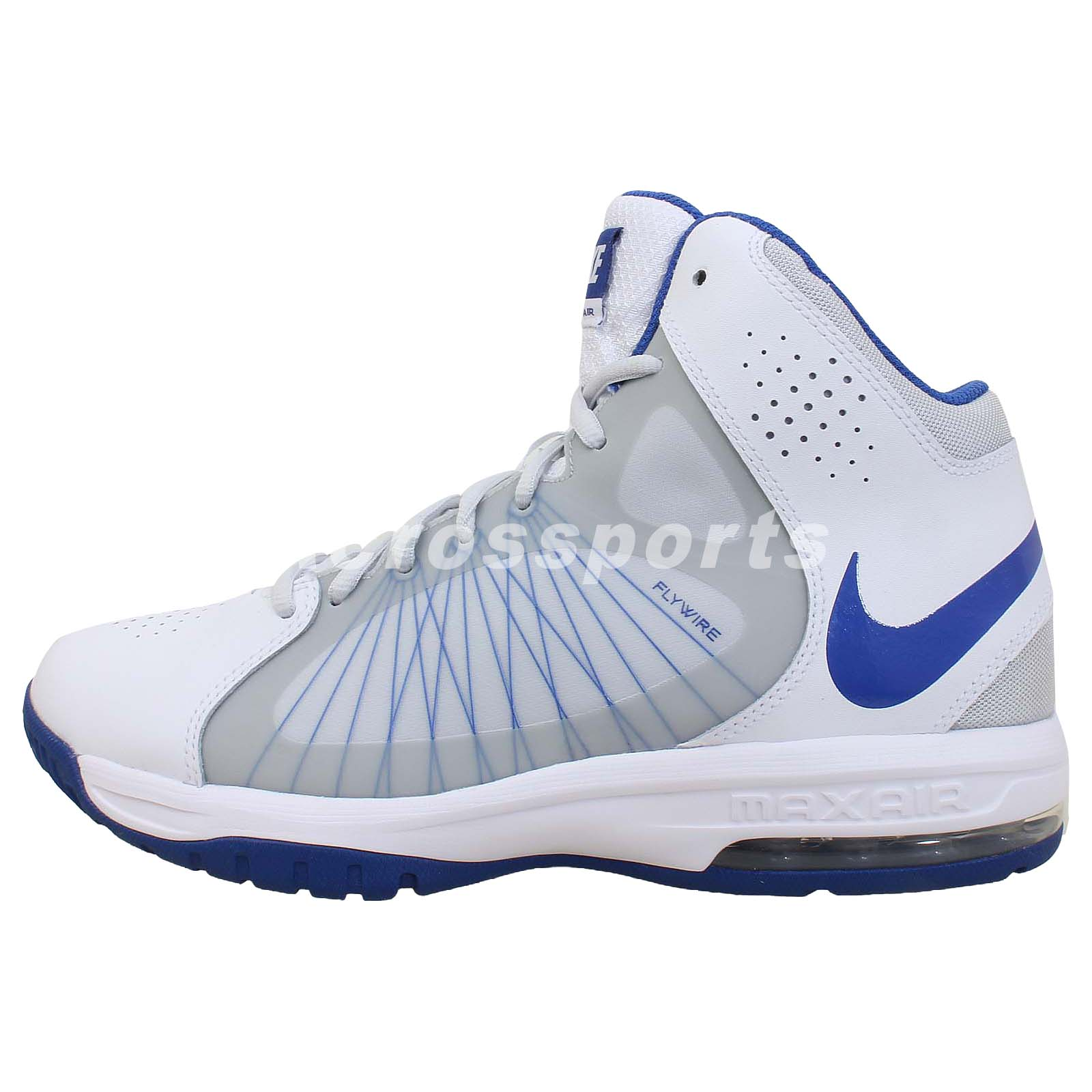 nike air max actualizer ii 2 white blue flywire 2014 mens basketball shoes ebay. Black Bedroom Furniture Sets. Home Design Ideas