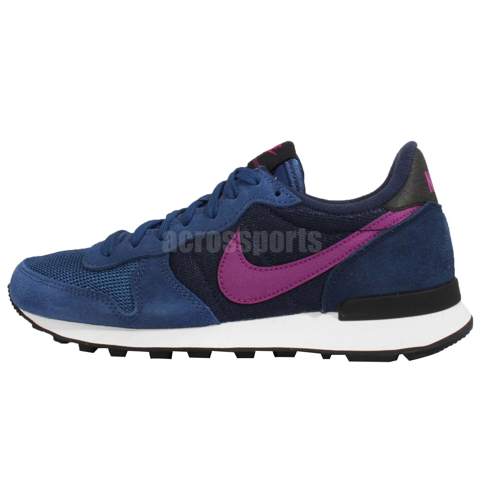 wmns nike internationalist blue purple navy womens running