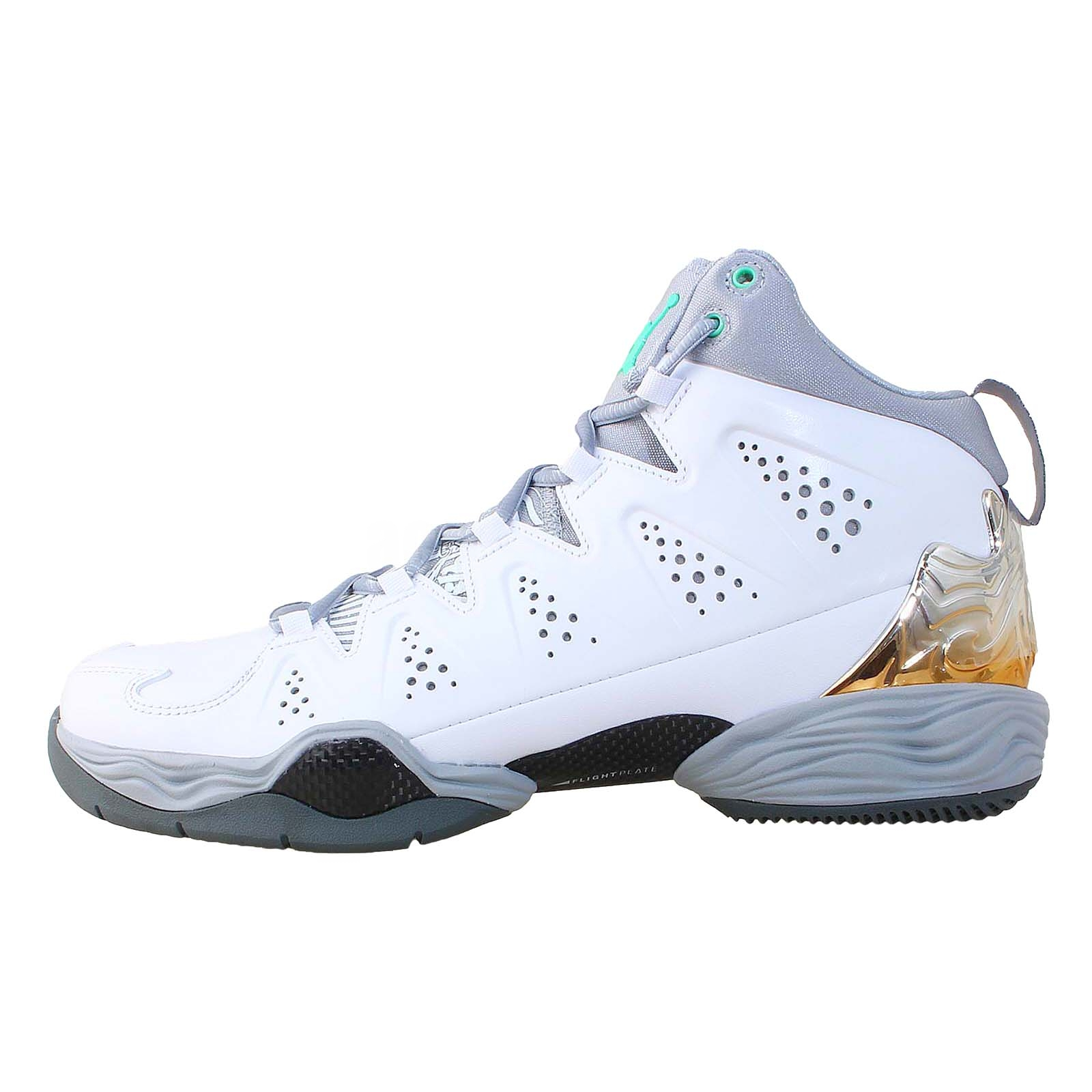 nike melo m10 white green glow 2014 carmelo anthony