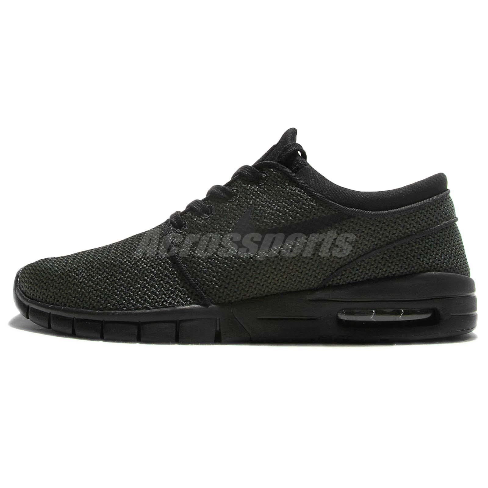 Nike Stefan Janoski Max Black Green Men Skateboarding Shoes Sneakers 631303 013