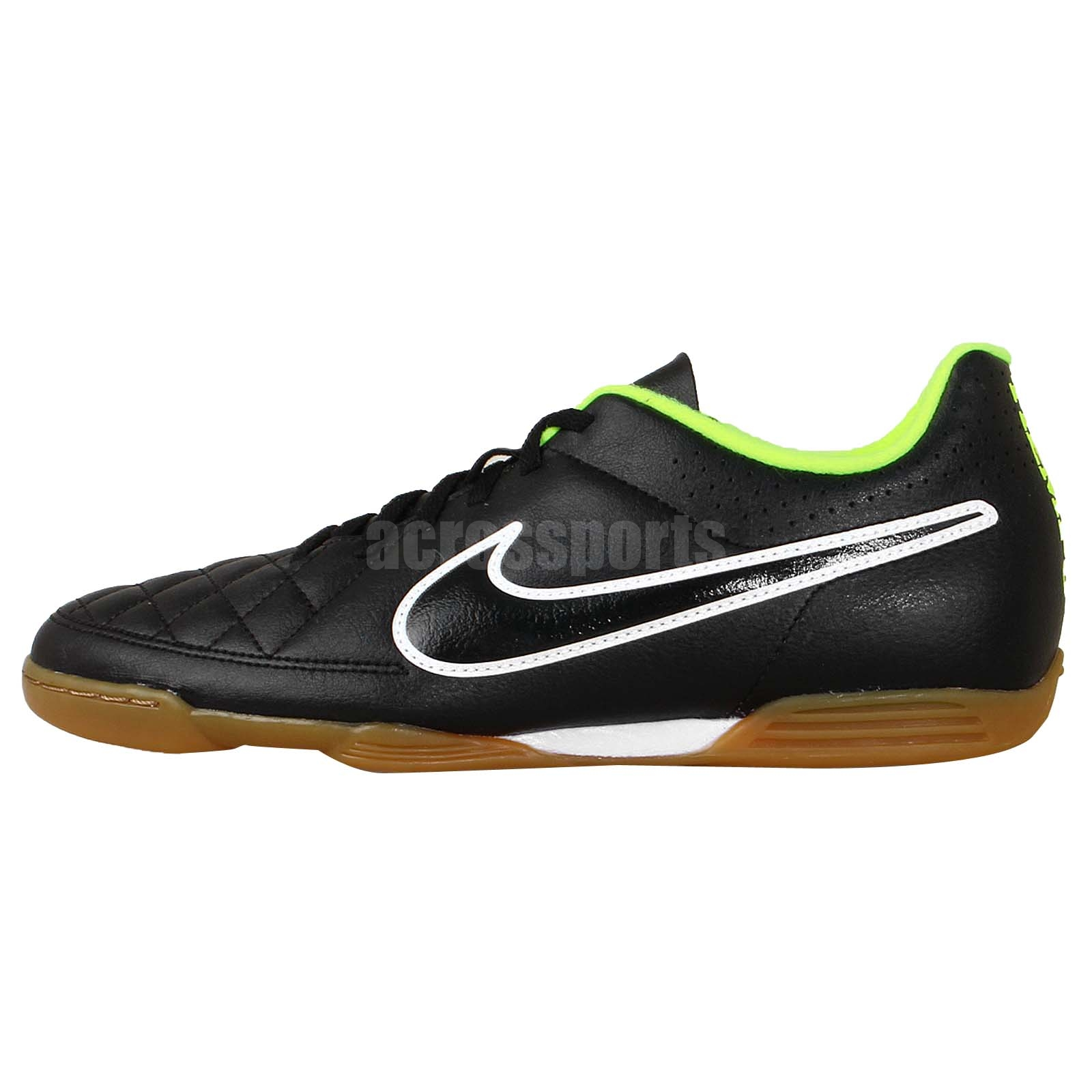 nike tiempo rio ii ic black gum 2014 mens indoor soccer
