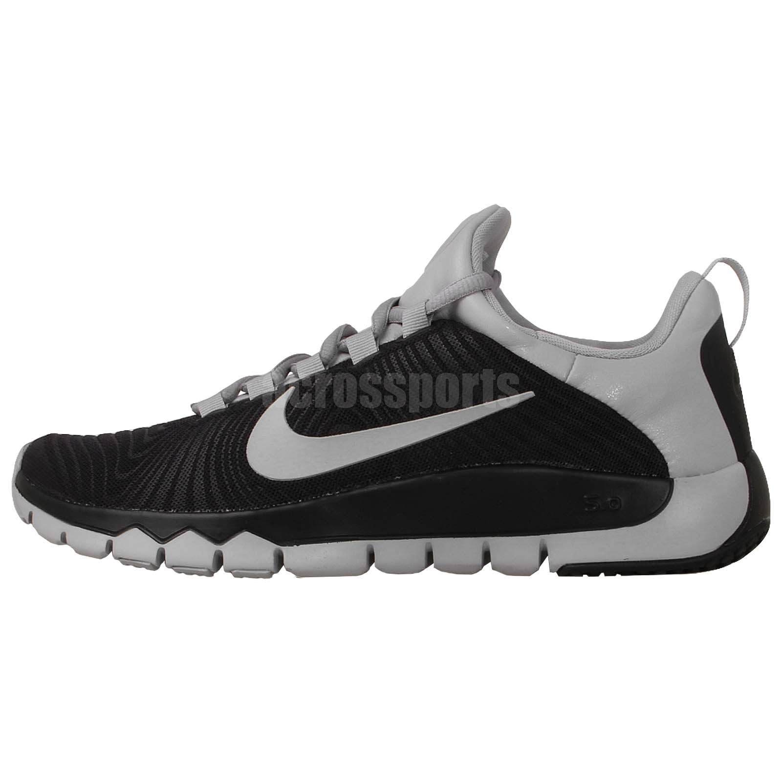 nike free trainer 5 0 v5 run black grey barefoot 2014 mens cross training shoes ebay. Black Bedroom Furniture Sets. Home Design Ideas