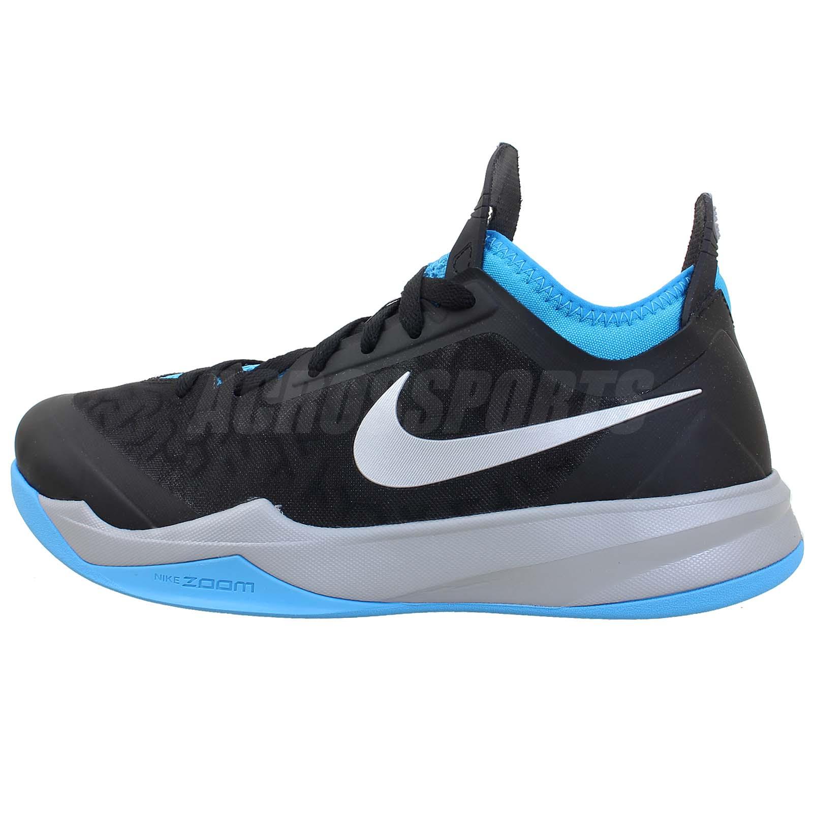 James Harden Nike Shoes: Nike Zoom Crusader XDR Black Silver Blue James Harden 2014