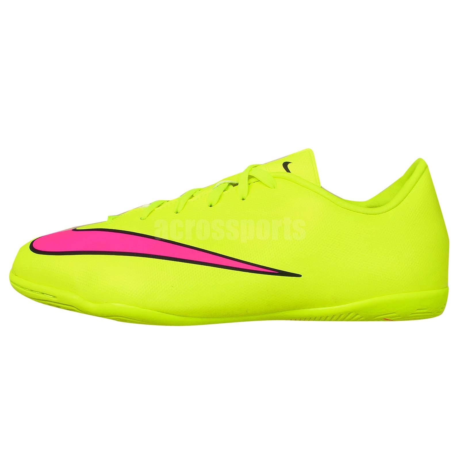 Mercurial victory v ic junior volt pink 2015 kids indoor soccer shoes
