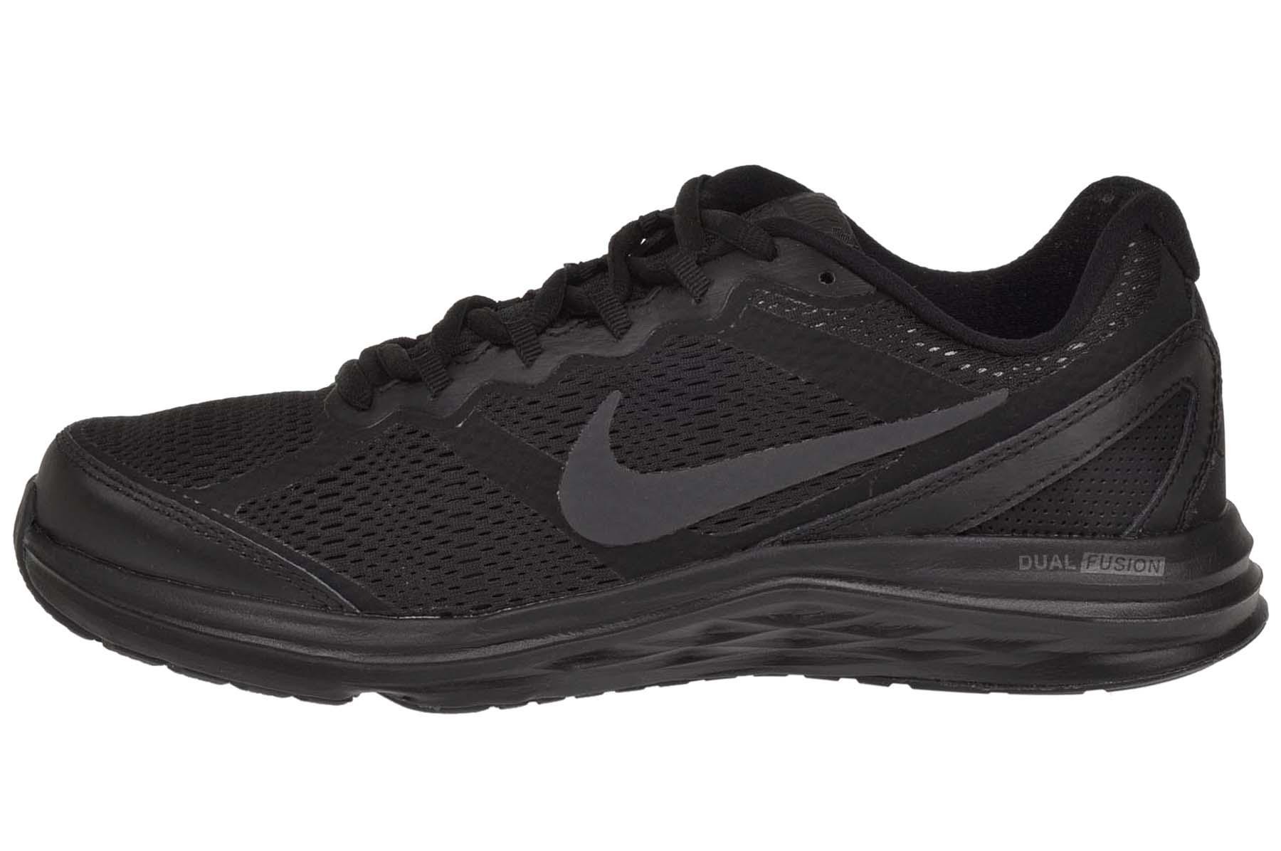 nike wmns dual fusion run 3 running womens shoes black 653594-020