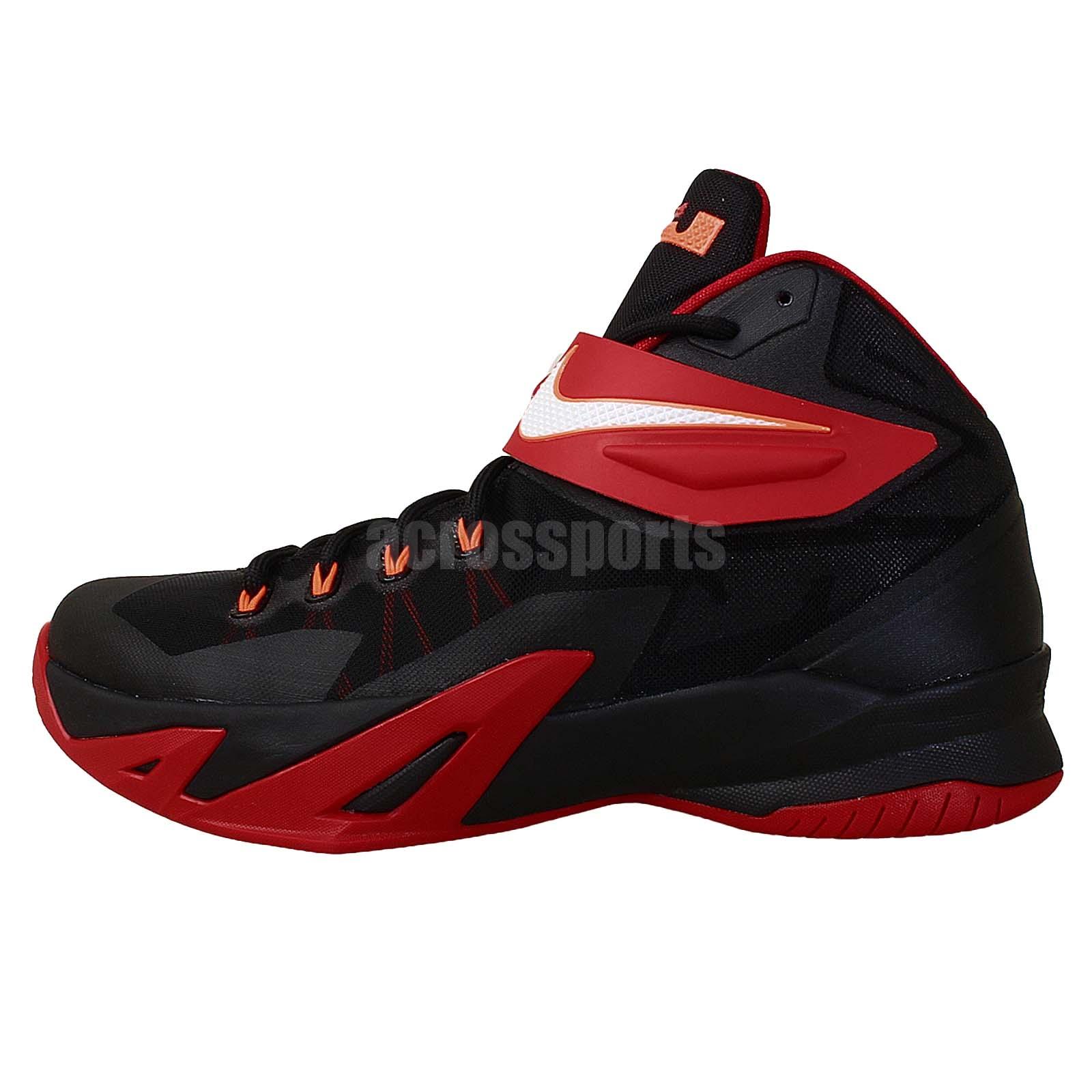 nike zoom soldier viii ep black red 2014 mens basketball