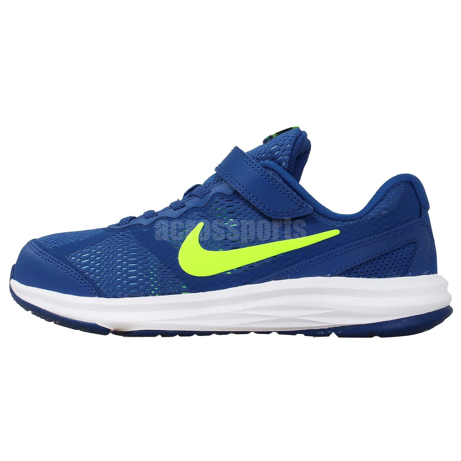 Nike Kids Fusion Run 3 PSV Blue Volt Preschool Velcro ...