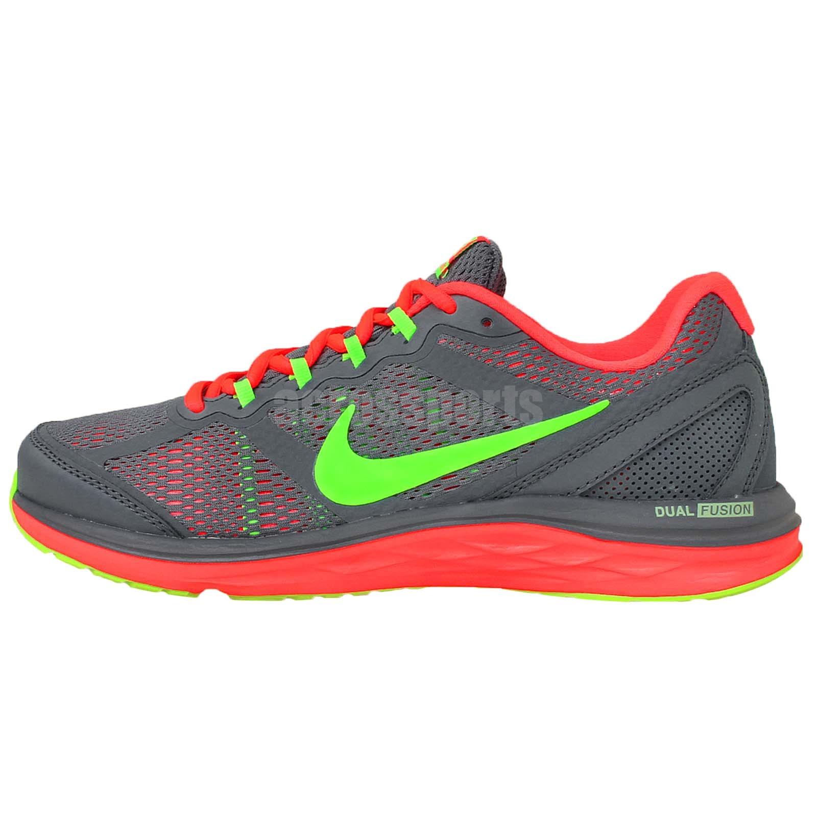Wmns Nike Dual Fusion Run 3 MSL Grey Volt Womens Running ...