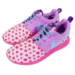 ecupg Nike Roshe One Print GS Rosherun Star Pink Purple Girls Running
