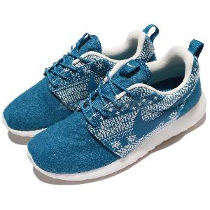 yyizp Wmns Nike Roshe One Winter Print Blue Snowflake Womens Running