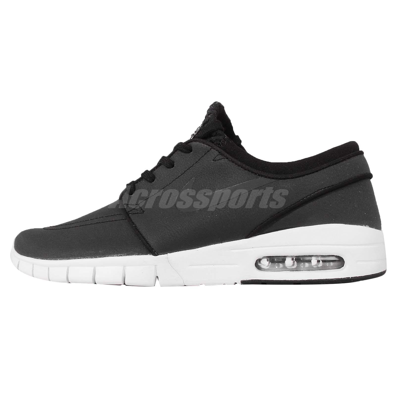 Nike Stefan Janoski Max L Shoe - Black White