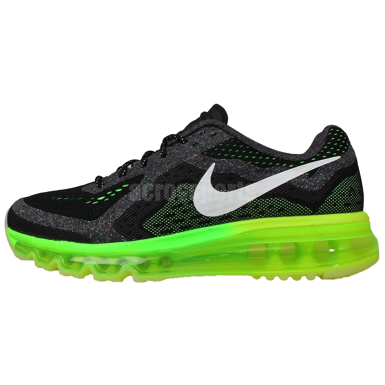 nike air max 2014 glow gs black grey green 2014 youth
