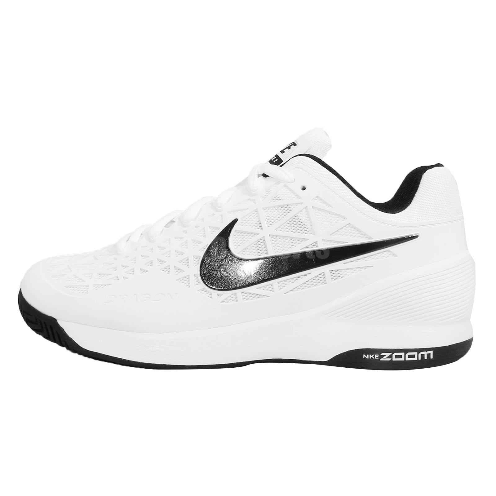 nike zoom cage 2 white black 2015 mens tennis shoes