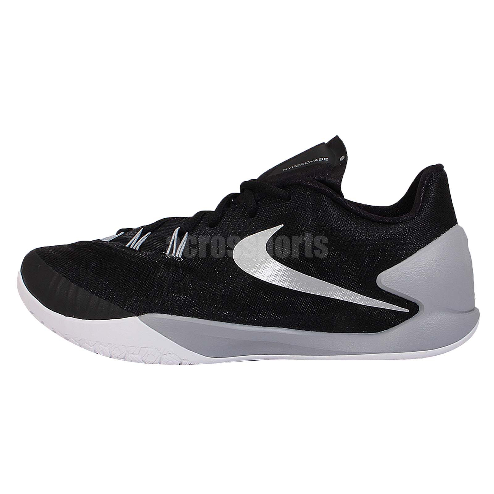 James Harden Nike Shoes: Nike Hyperchase EP Black Silver Grey James Harden Mens