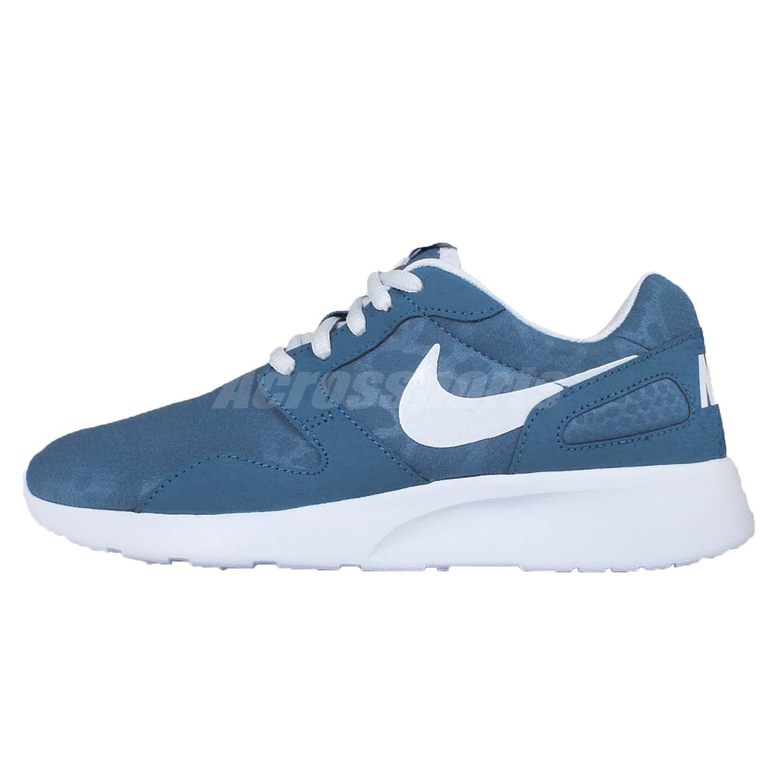 wmns nike kaishi print leopard blue white womens running