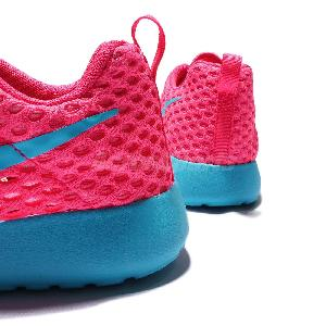 xvqxo Nike Roshe One Flight Weight GS Pink Blue Kids Youth Running Shoes