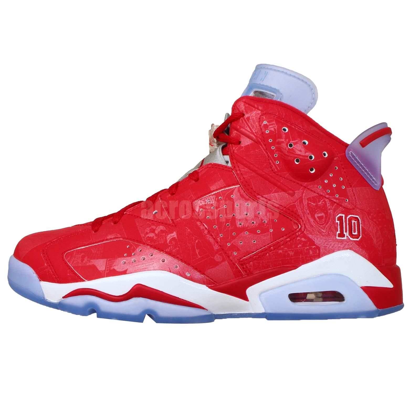 Nike Air Jordan 6 Retro X Slam Dunk VI Red Reflective Mens