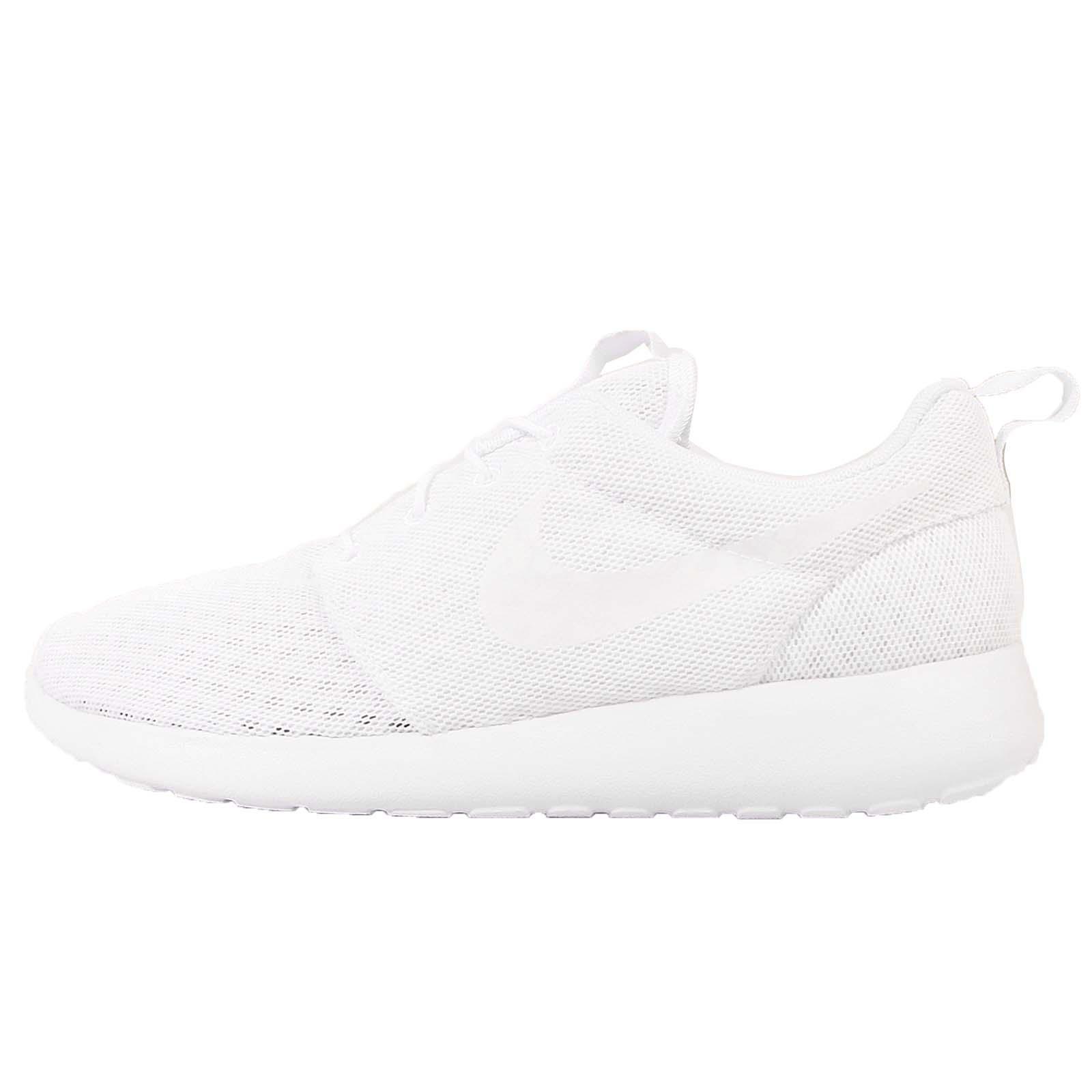 cxldd Nike Roshe One BR Breeze Triple White Roshe Run Mens Running Shoes