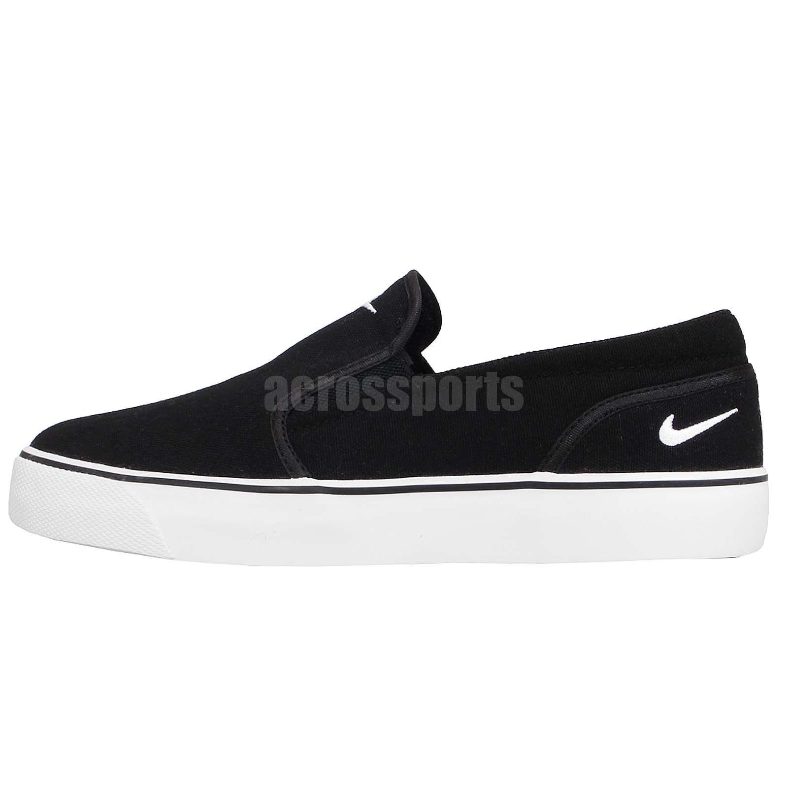 nike toki slip txt black white slip on mens casual shoes