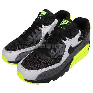 ff54e0795ba261 Nike Air Max 90 Mesh GS Black Grey Volt Boys Girls NSW Running Shoes  724824-002