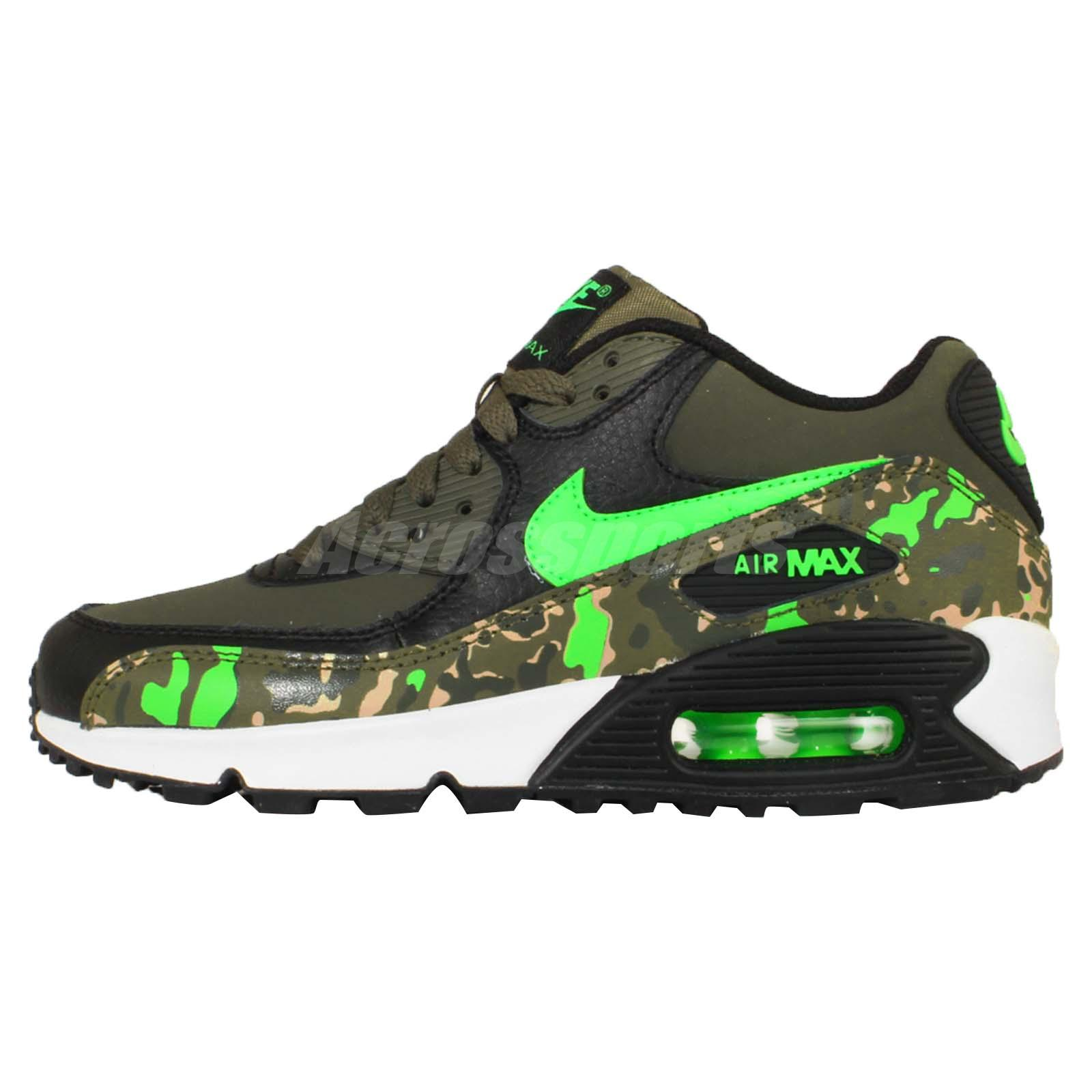 nike air max 90 prem ltr gs green camo youth boys girls. Black Bedroom Furniture Sets. Home Design Ideas