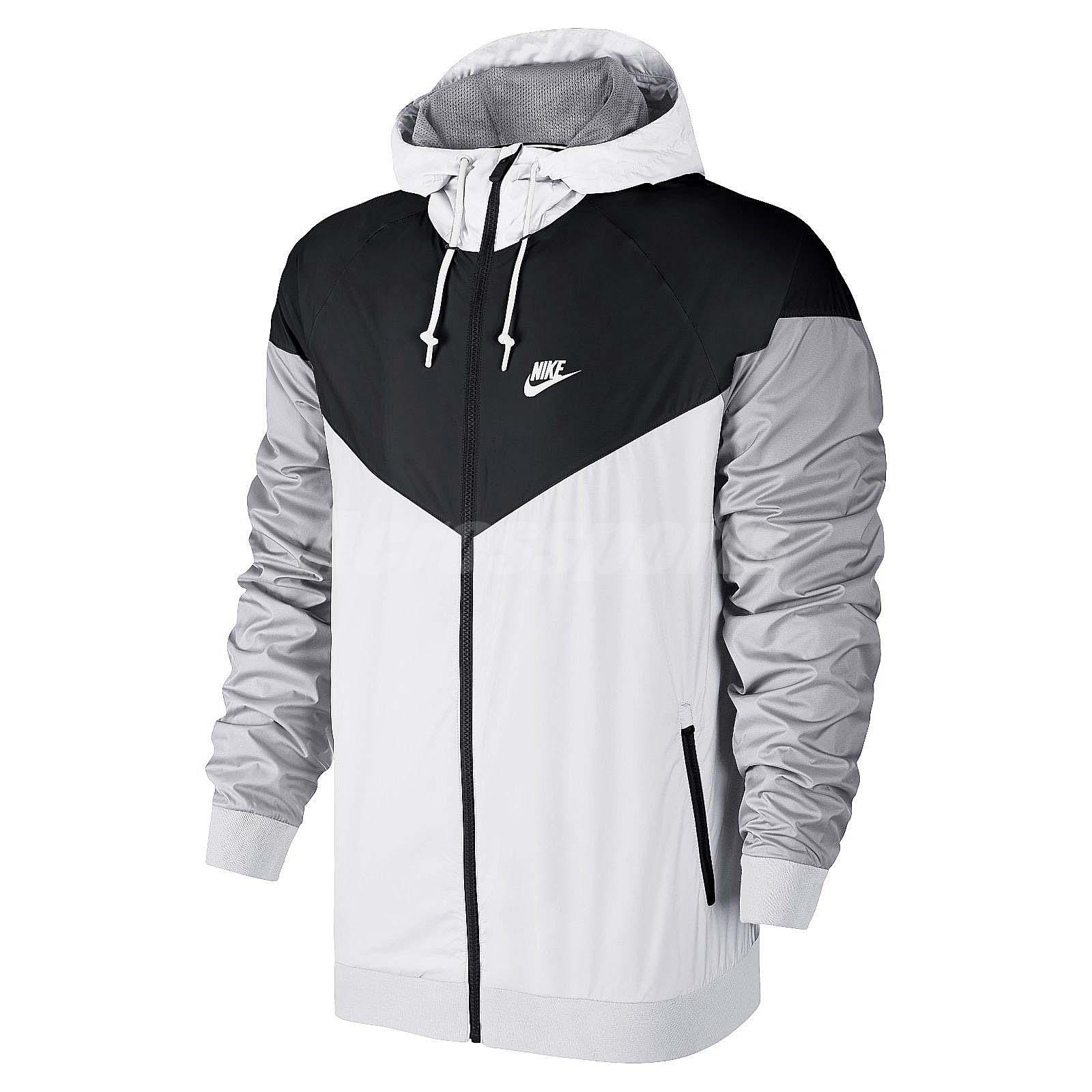 Asian Size Nike AS Windrunner Black White Grey Mens NSW Jacket ...