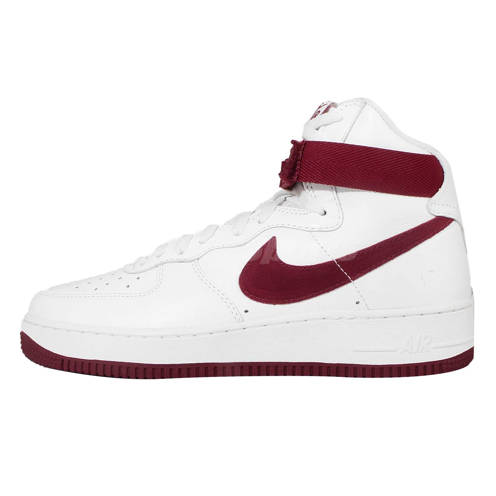 nike air force white red