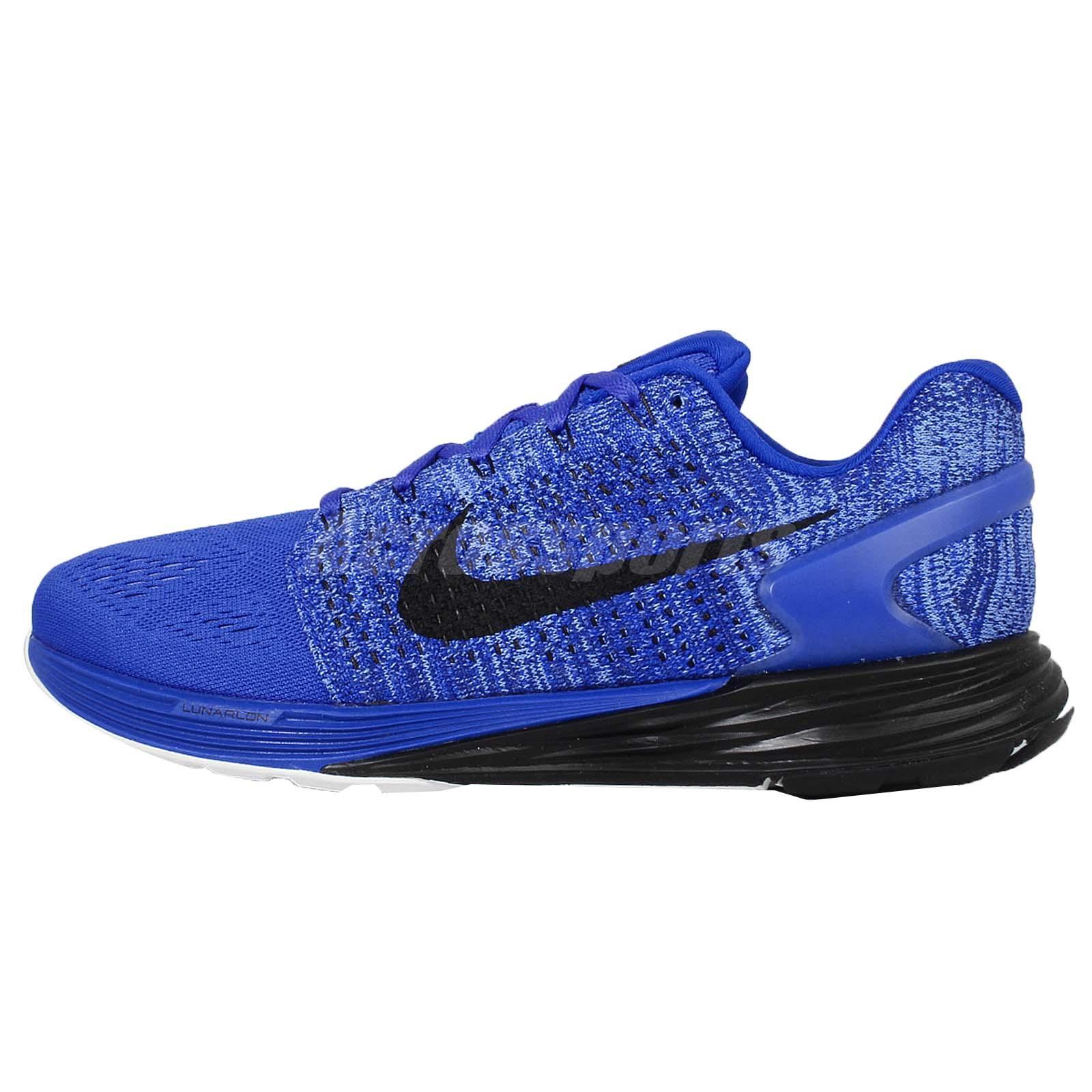 nike lunarglide 7 vii racer blue black mens running shoes. Black Bedroom Furniture Sets. Home Design Ideas