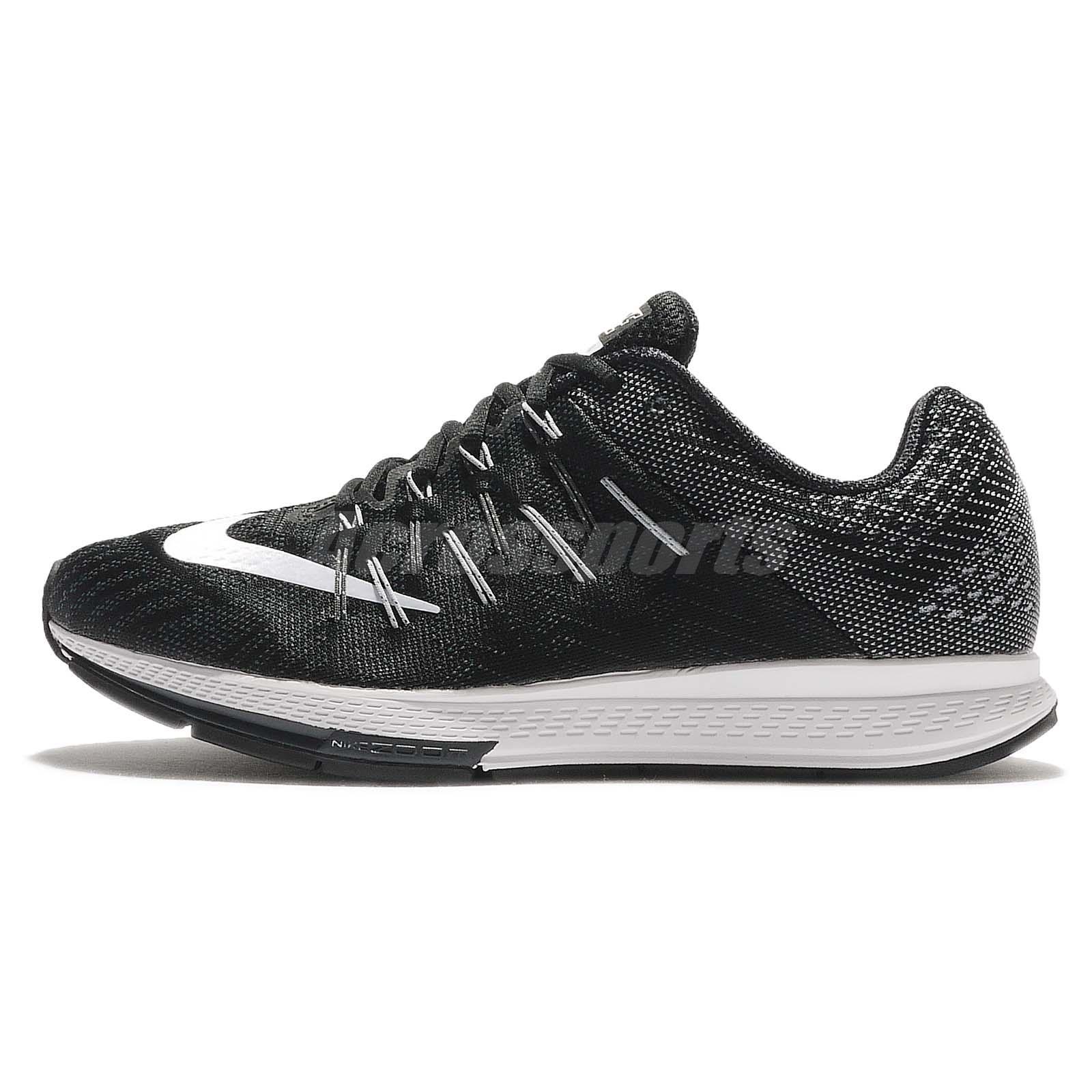 Nike_Air_Zoom_Elite_8; Nike Air Zoom Elite 8 VIII Black Grey White Men  Cushion Running Shoes 748588-010