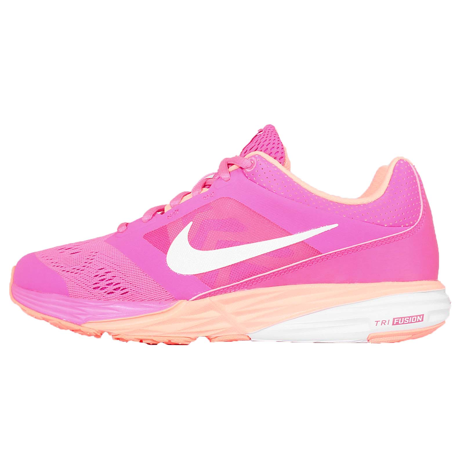 wmns nike tri fusion run msl pink orange white womens