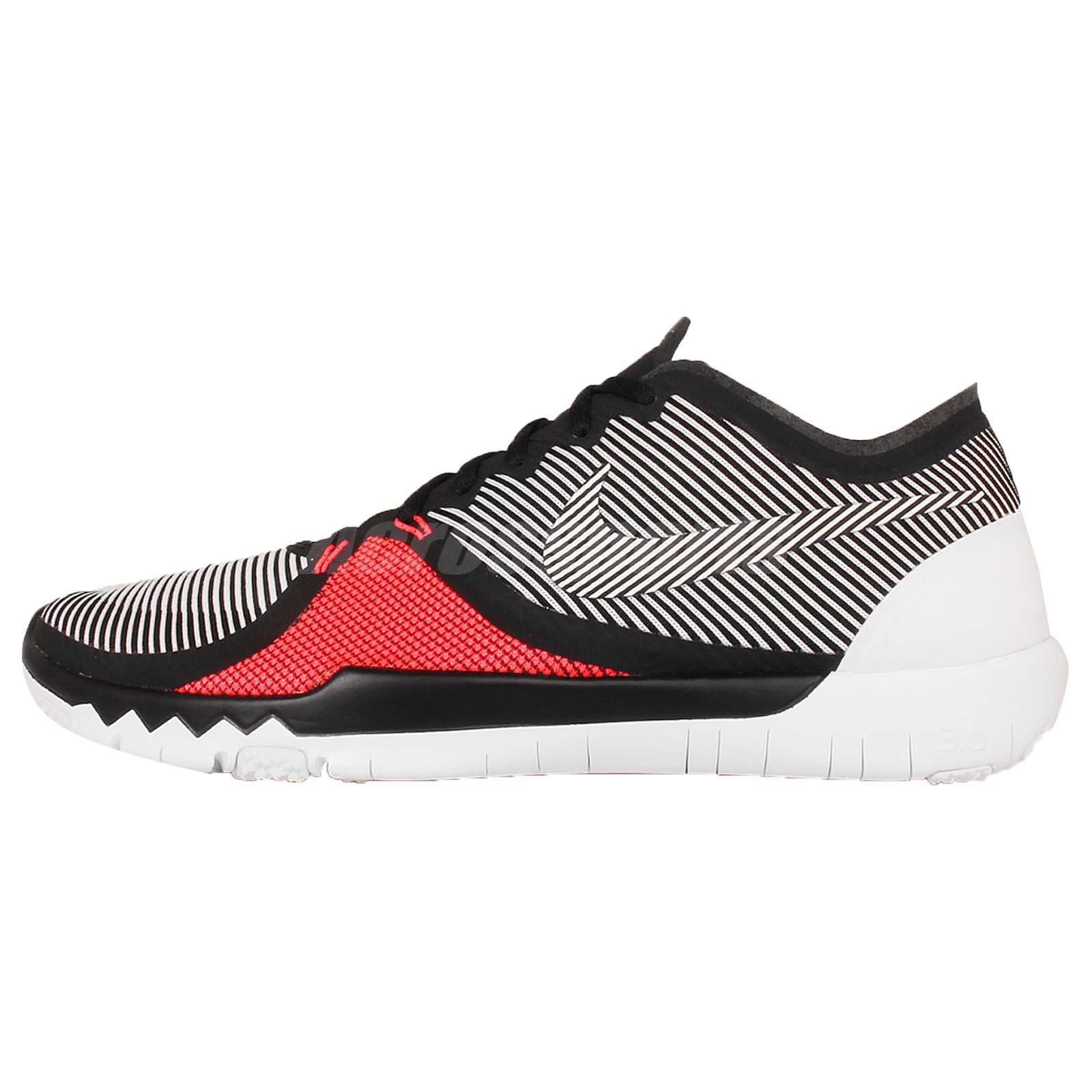 Nike Free Trainer 3.0 V4 Black Red Mens Fitness Gym Training Shoes 749361-016