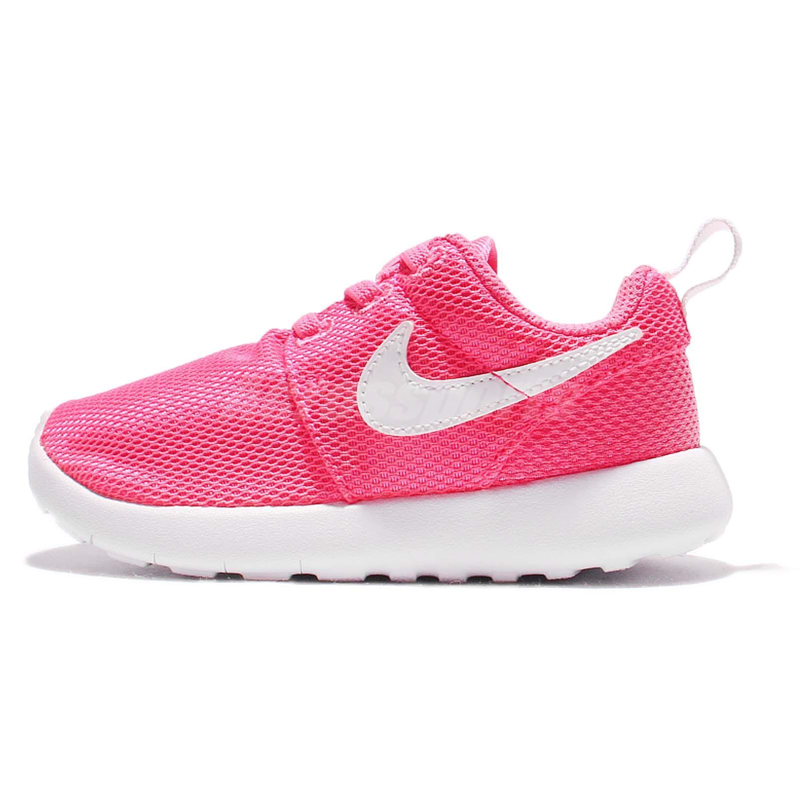 nike roshe one tdv pink white toddler baby running shoes