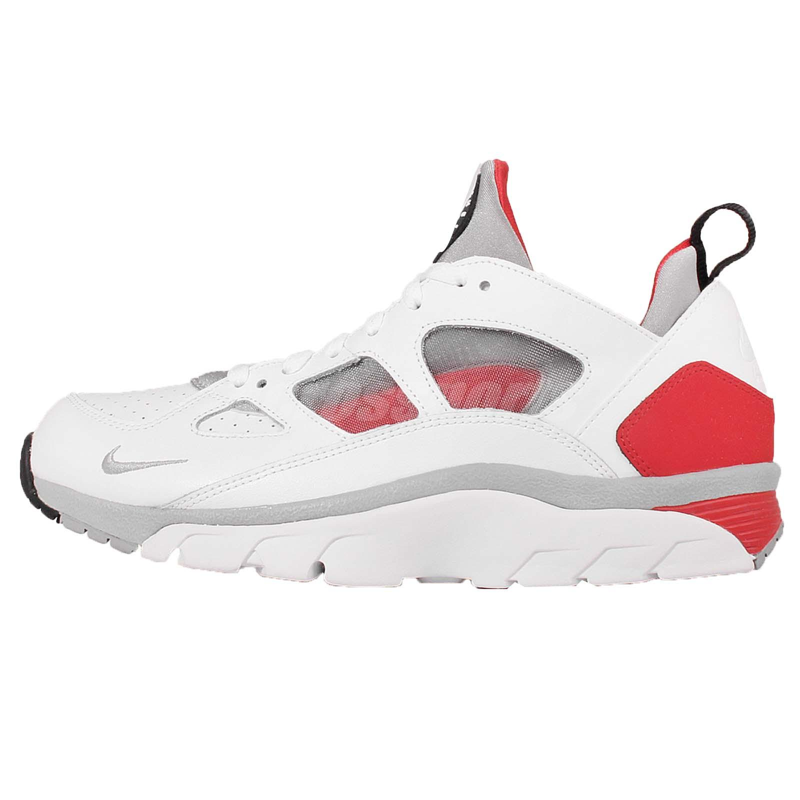 nike air trainer huarache low white red mens cross training shoes 749447 102. Black Bedroom Furniture Sets. Home Design Ideas
