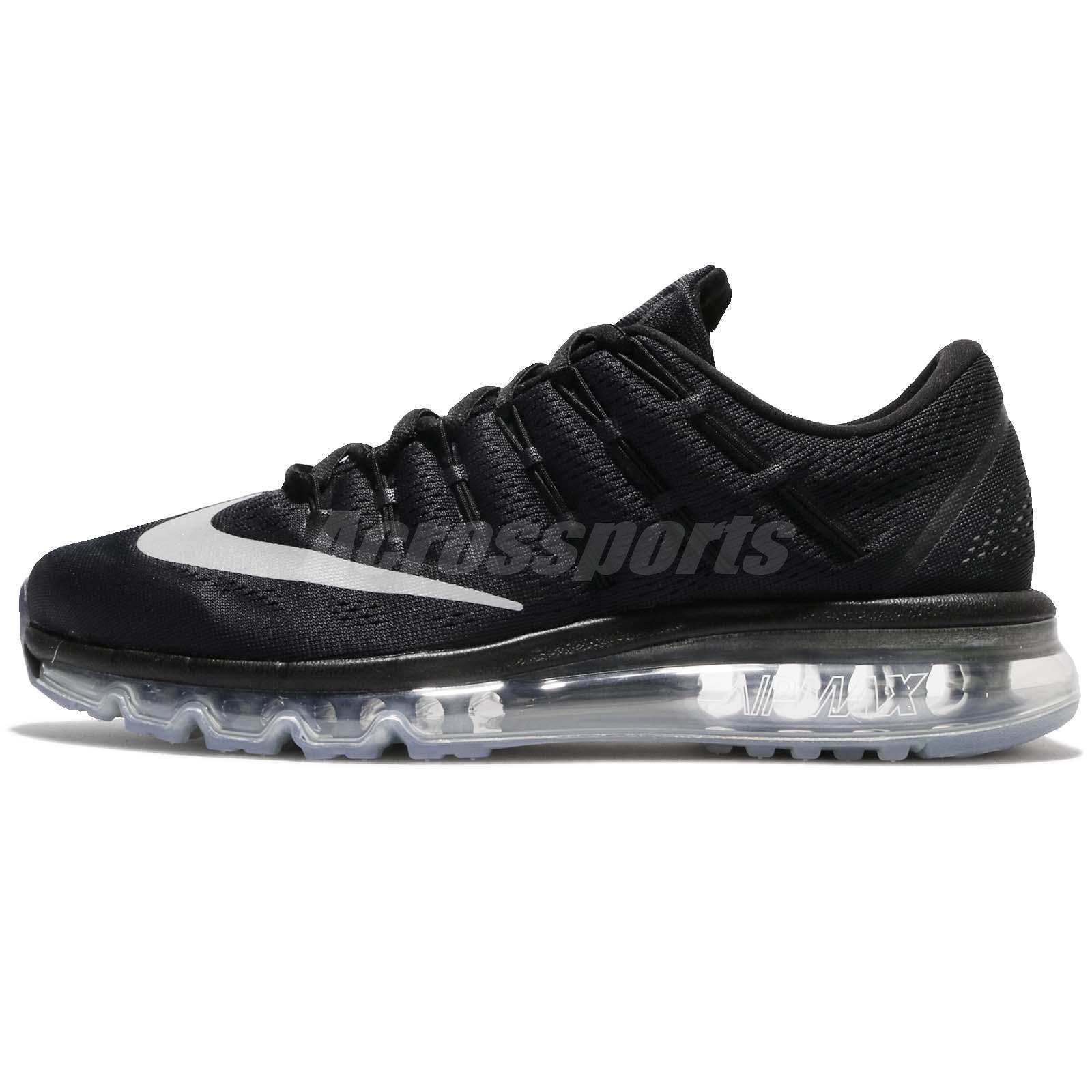Nike Air Max 2016 Black Grey Mens Running Shoes Sneakers Trainers 806771 001
