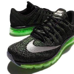 Nike Air Max 2016 Black Green Men Running Shoes Sneakers 360 Trainers 806771-013