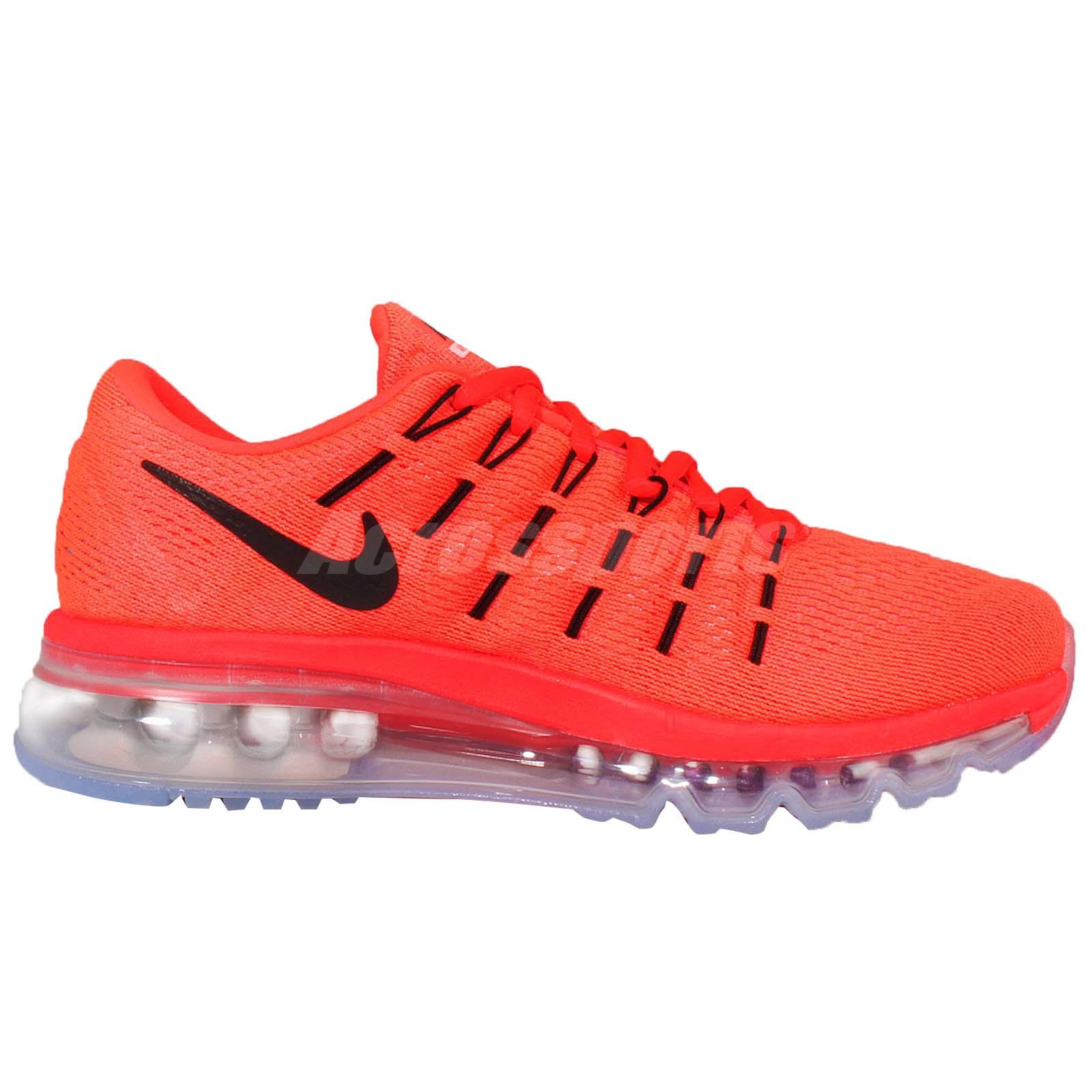 Wmns Nike Air Max 2016 Red Black Womens Running Shoes