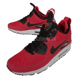 yyits Nike Air Max 90 Mid Winter Red Black Mens Shoes Sneakers NSW