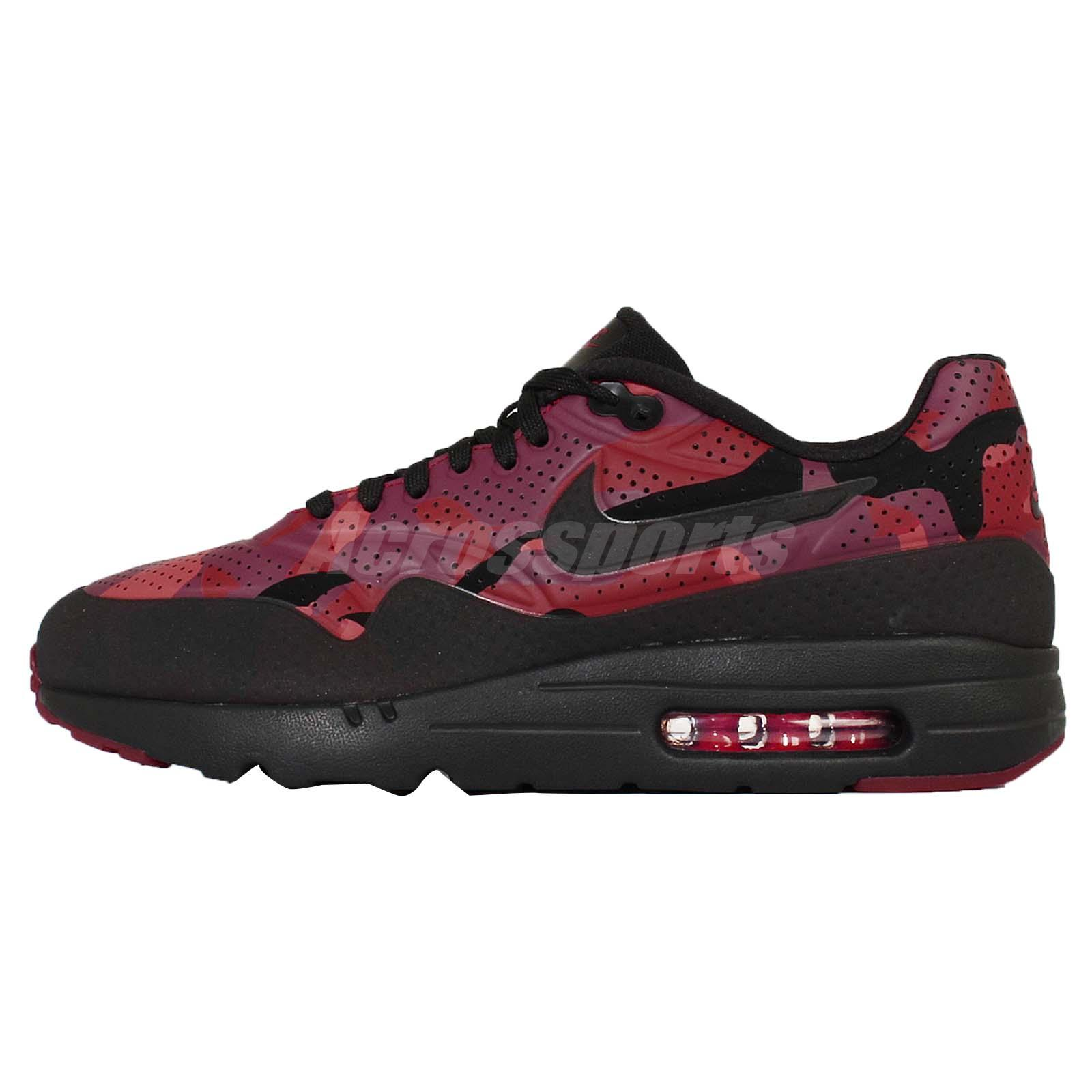 nike air max 1 ultra moire print black red camo mens. Black Bedroom Furniture Sets. Home Design Ideas