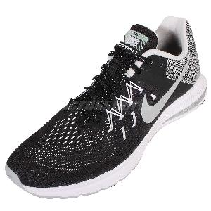b02ba51307b31 Nike Zoom Winflo 2 Flash Black Reflect Silver Mens Running Shoes 807277-002  ...