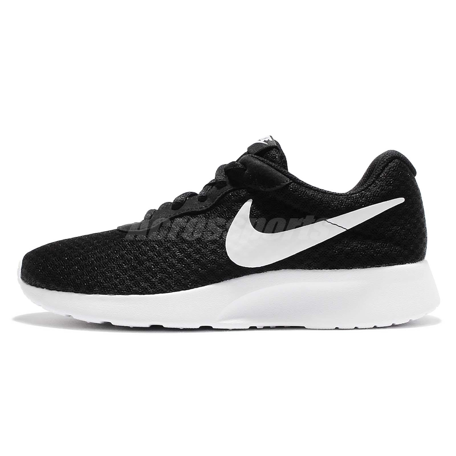Wmns Nike Tanjun Black White NSW Sportswear Womens Running Shoes 812655-011