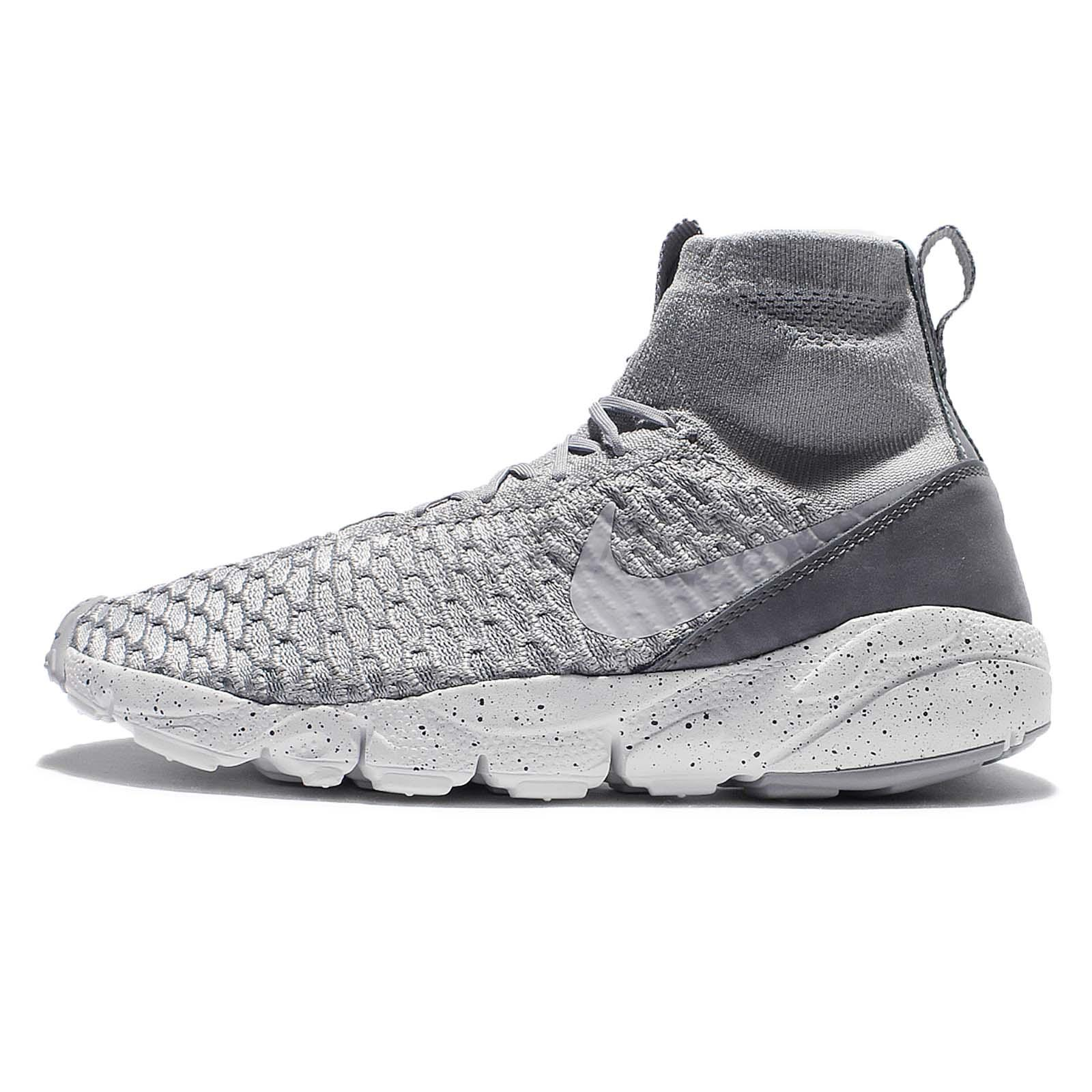 Nike Air Footscape Magista Flyknit Grey White Mens Casual Shoes ...