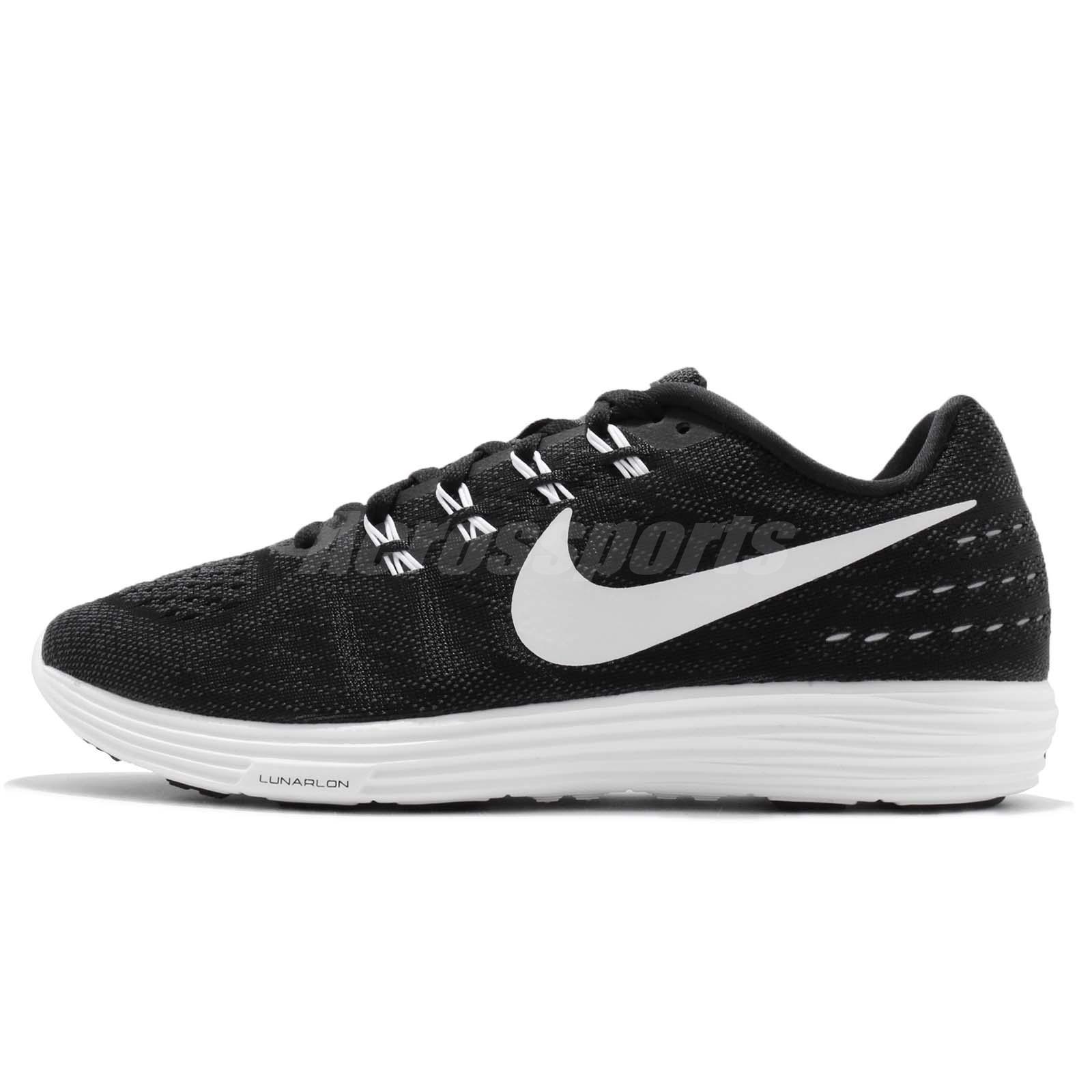 nike lunartempo 2 ii black white mens running shoes. Black Bedroom Furniture Sets. Home Design Ideas