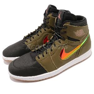 Nike Air Jordan 1 Retro High Nouveau Militia Green Mens Basketball  819176-306 478b60acd