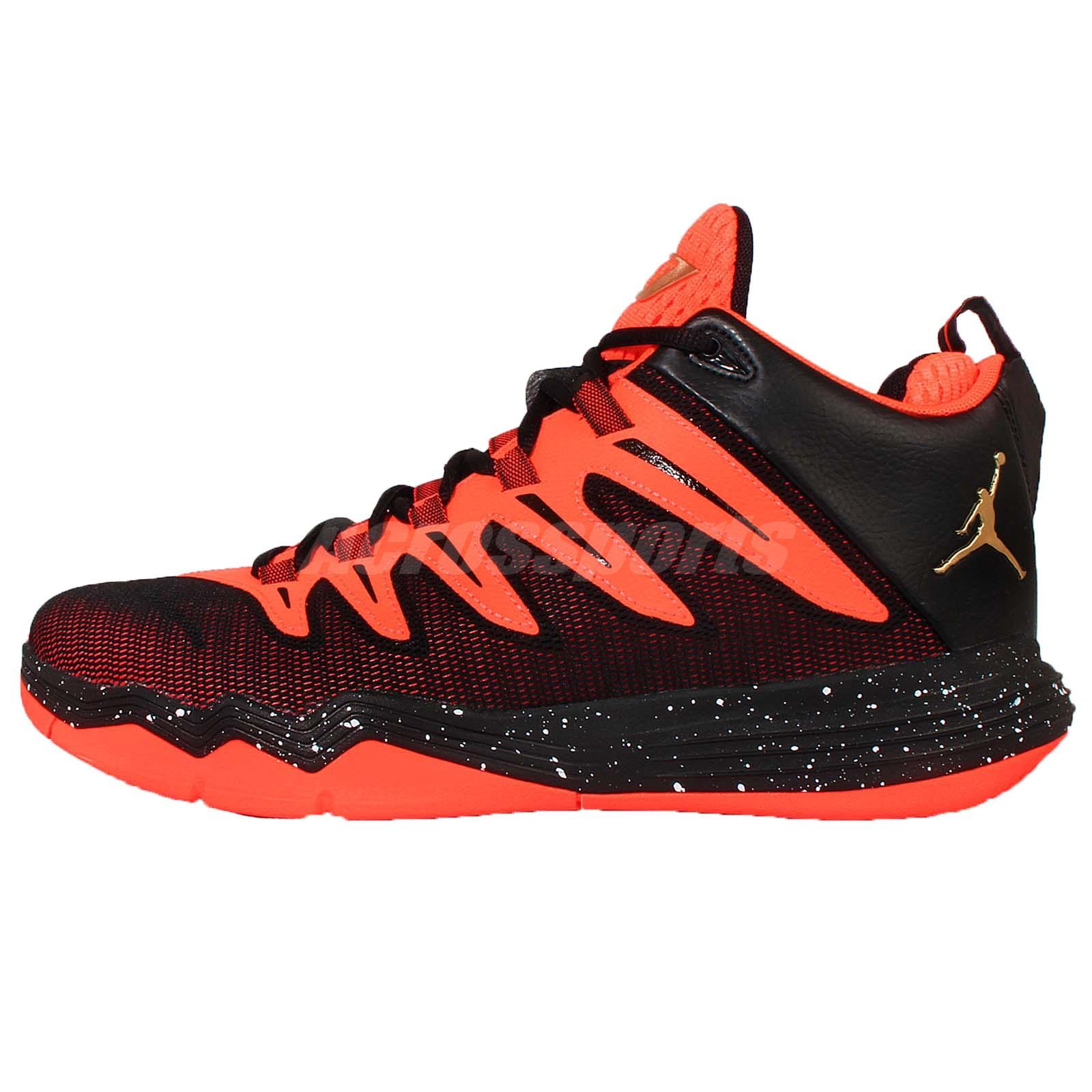 nike cp3 ix x 9 chris paul black orange mens