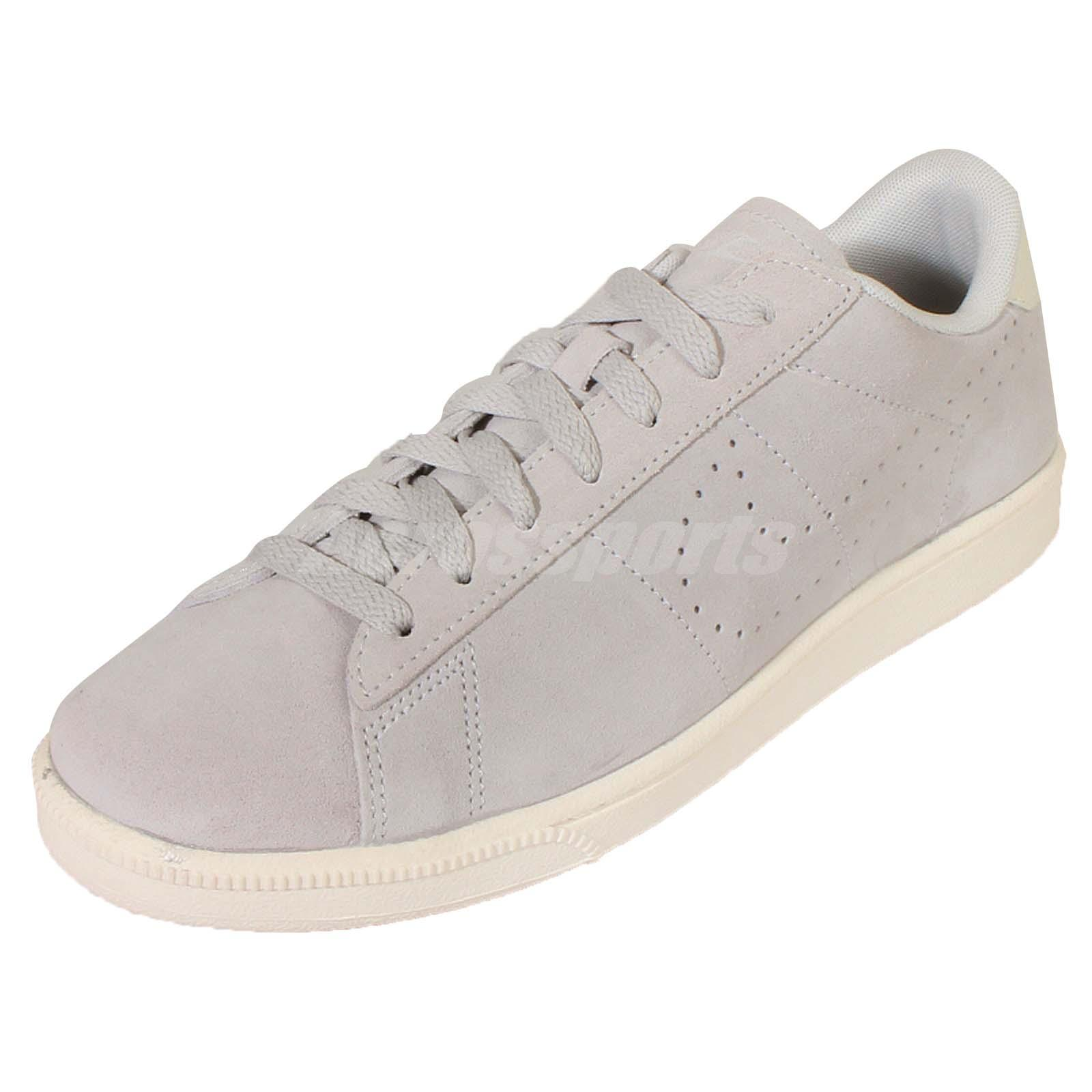 nike tennis classic cs suede grey ivory mens shoes