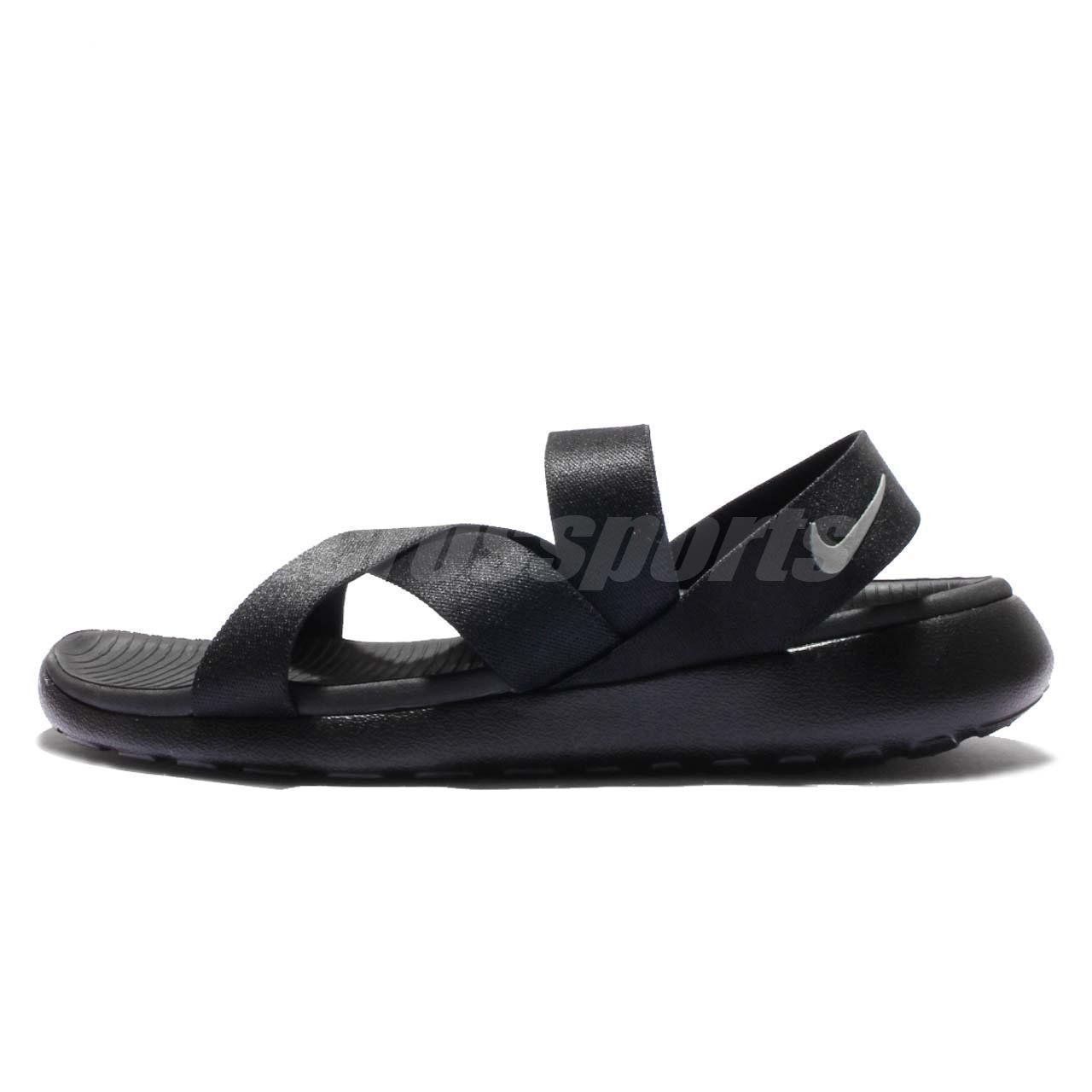 yhreq Wmns Nike Roshe One Sandal Black Grey Womens Benassi 830584-001