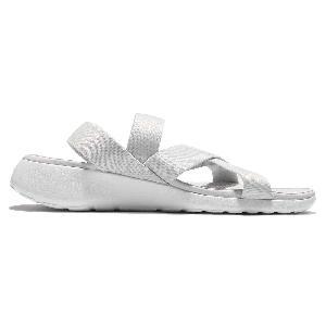 ktalc Wmns Nike Roshe One Sandal White Grey Womens Sandal Slip-On