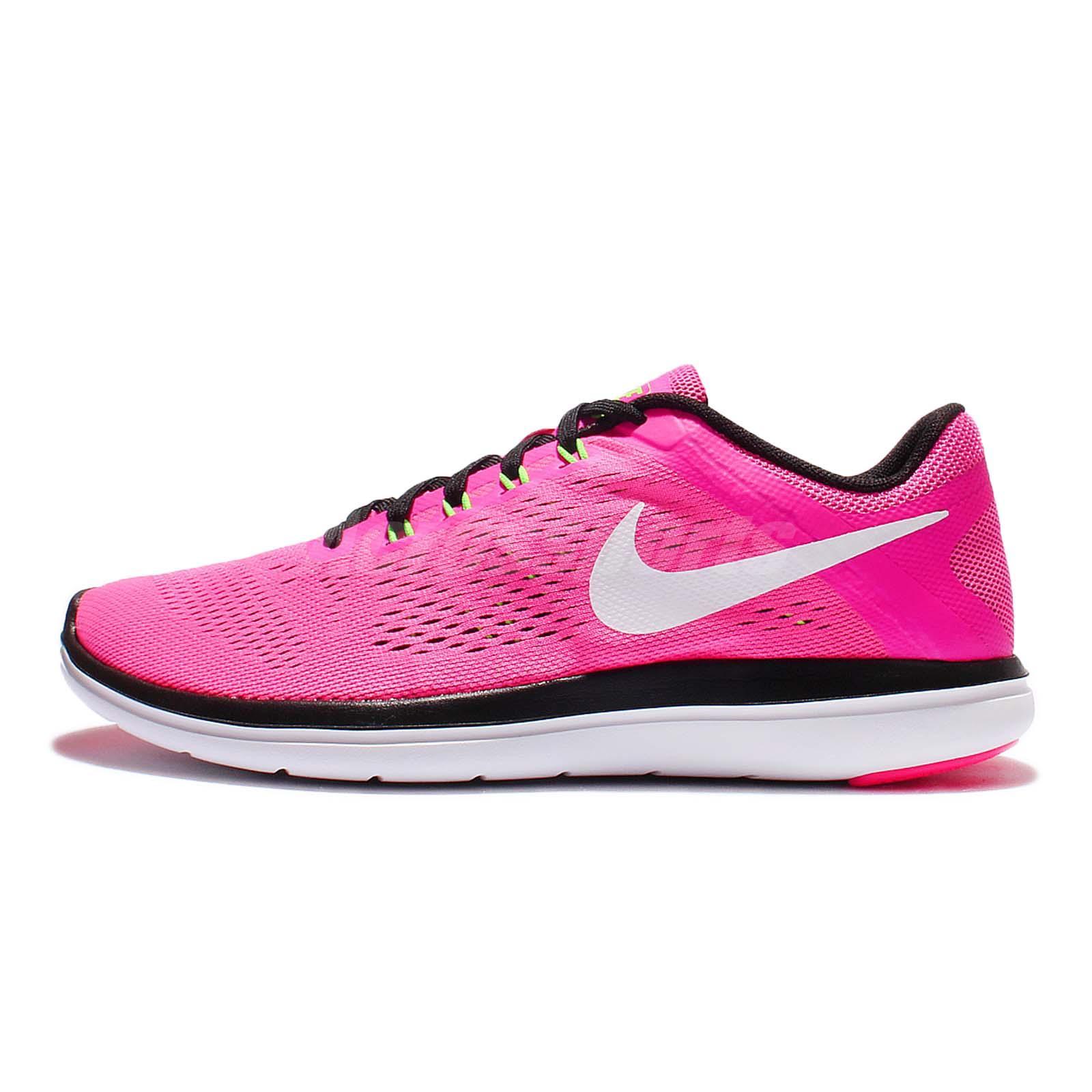 wmns nike flex 2016 rn run pink black womens running shoes trainers 830751 600 ebay. Black Bedroom Furniture Sets. Home Design Ideas