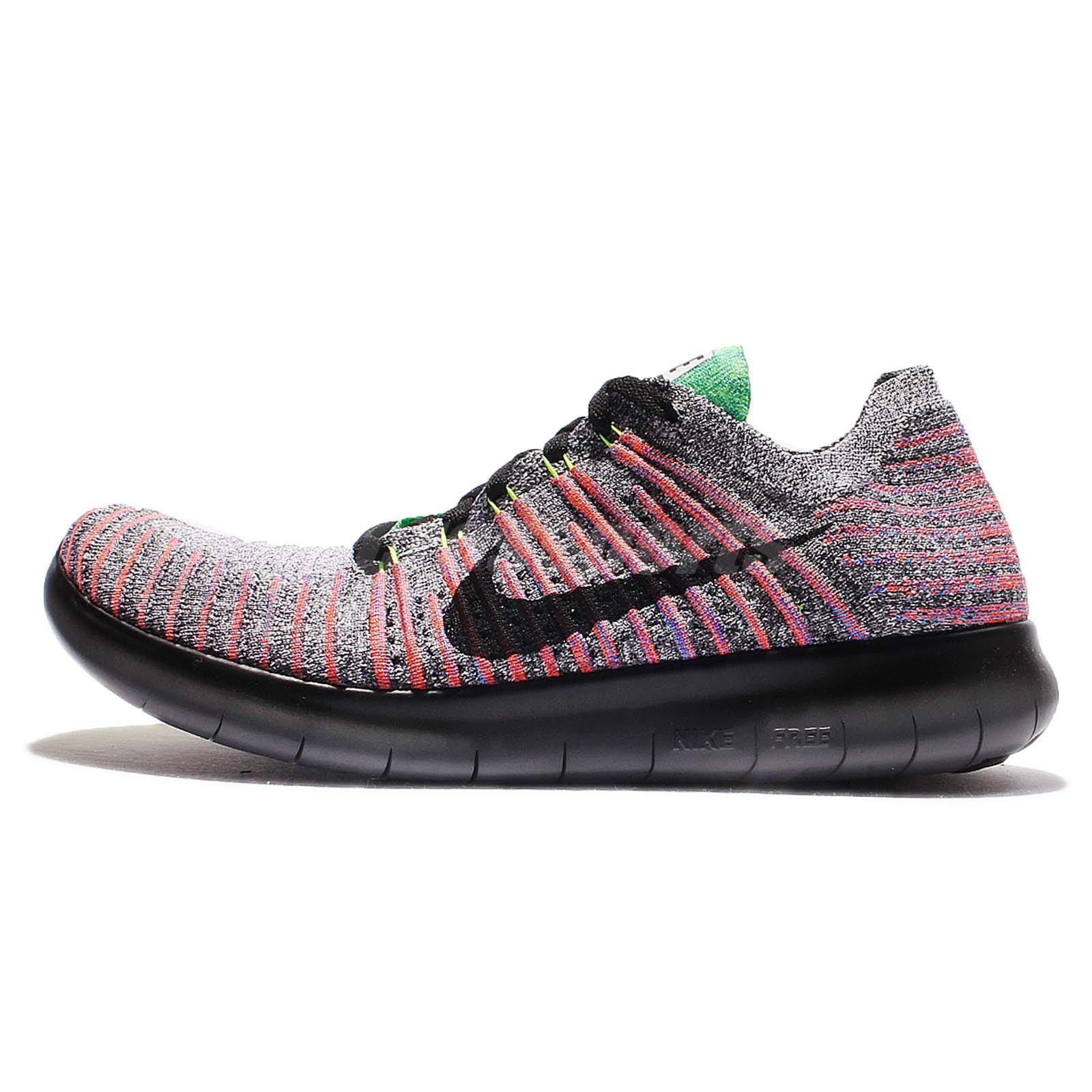 Nike Free RN Flyknit Run Multi-Color Black Men Running Shoes Sneakers  831069-108 ...