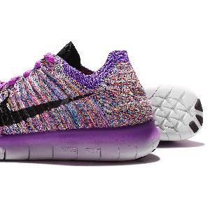... Wmns Nike Free RN Flyknit Run Purple Black Womens Running Shoes 831070-500 ...